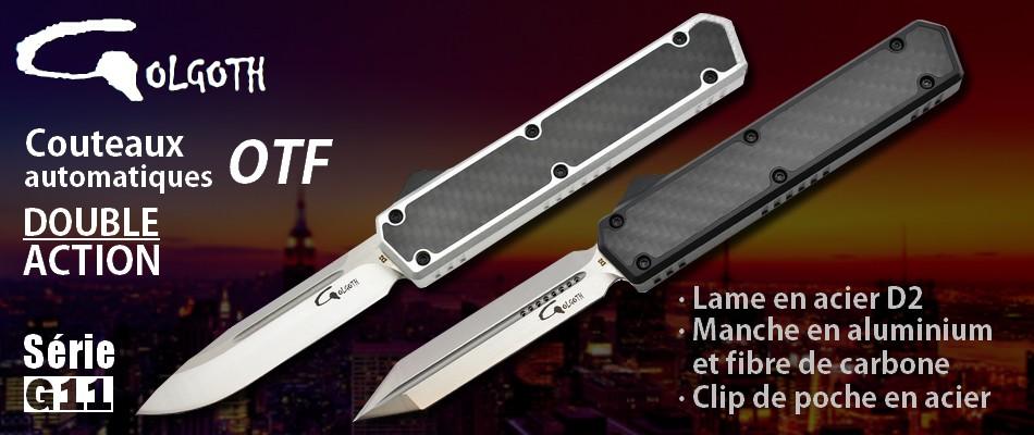 Golgoth couteaux automatiques OTF double action série G11
