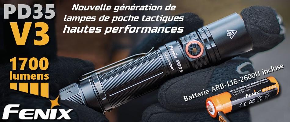 Fenix PD35 V3.0 Nouvelle génération de lampes tactiques