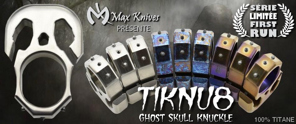 Maxknives TIKNU8 Ghost Skull Knuckle
