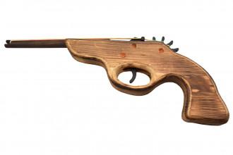 Rubber Band Shooter 3704-RW1 - Pistolet à élastiques en bois