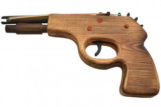 Rubber Band Shooter 3704-RW2 - Pistolet à élastiques en bois