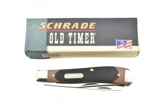 Schrade 94OT Old Timer Couteau de poche à deux lames Trapper Gunstock