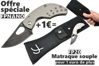 Offre promotionnelle FPNANO Titane avec matraque souple FP20 pour 1 euro de plus