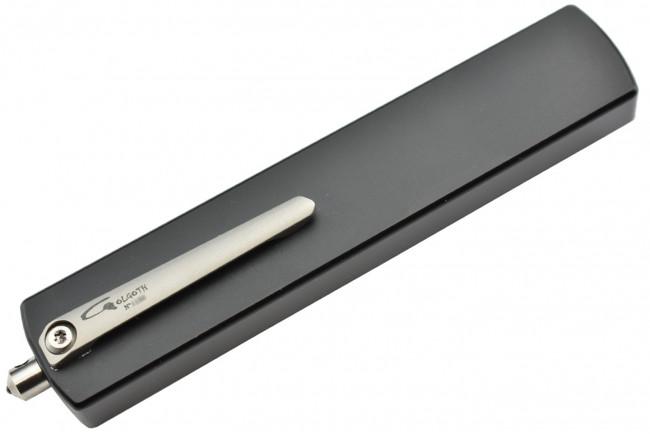 Golgoth G12DT couteau automatique lame double tranchant acier D2 manche aluminium