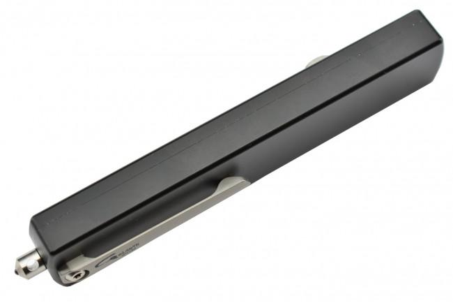 Golgoth G12G couteau automatique lame glaive double tranchant acier D2 manche aluminium
