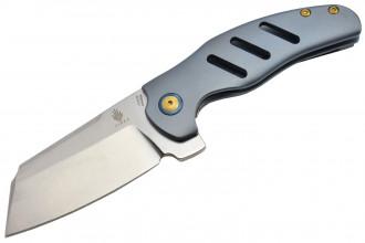 Kizer Ki4488A C01C lame acier S35VN manche en titane par Sheepdog knive