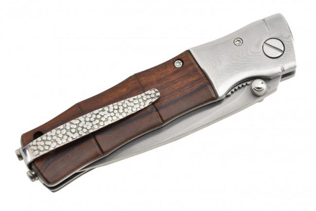 Mcusta MC-145G Lame acier SPG2 manche Iron Wood