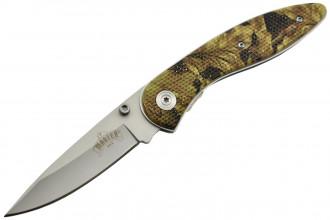 Master USA MU-1026C Couteau pliant lame acier 440 manche G10 camouflage