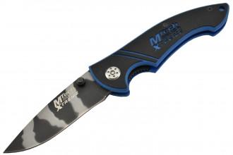 MTech MX-8003BL Couteau pliant lame acier 440C et manche G10