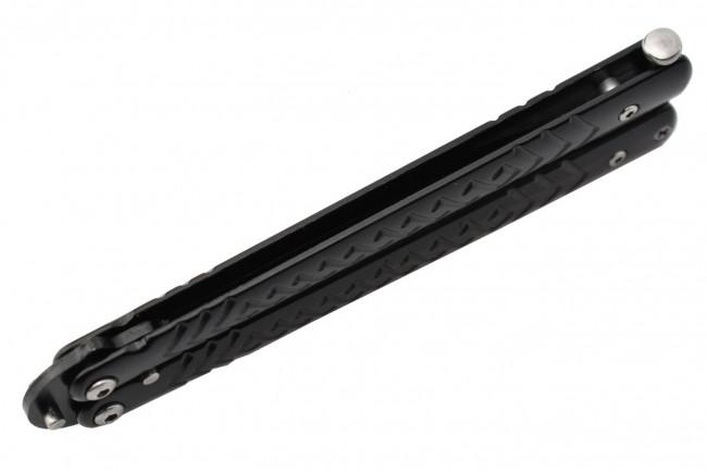 Maxknives P54B Couteau papillon lame acier 3CR13 manche acier noir
