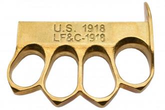 Max Knives PA5LT - US 1918 - Poing américain en Laiton avec trou