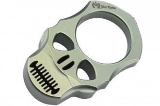 MaxKnives TIKNU4+ Impact Skull knuckle Titane anodisé