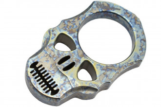 MaxKnives TIKNU4+ Impact Skull knuckle Titane anodisé crazy