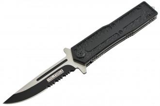 YC-603 Couteau pliant ouverture assistée lame acier inoxydable avec serrations